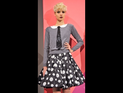 Retro schoolgirl look by Alice & Olivia